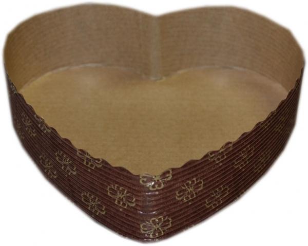 Einweg-Backform Herz 130x35mm papier