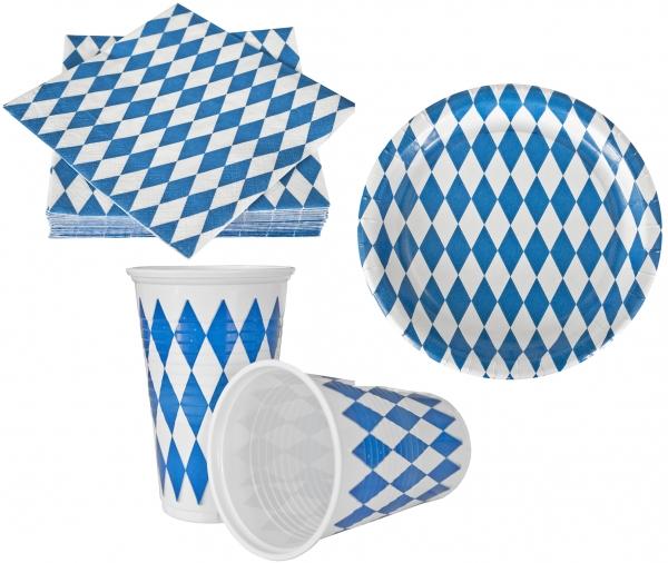 """Partyset Motiv """"Bayrisch Blau"""""""