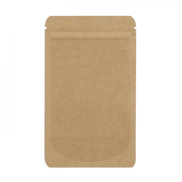 Standbodenbeutel Kraftpapier 250ml 110x185x65