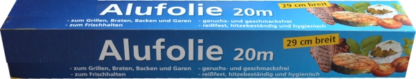 Alufolie alufarbend 290mmx20mx10my in Faltschachtel