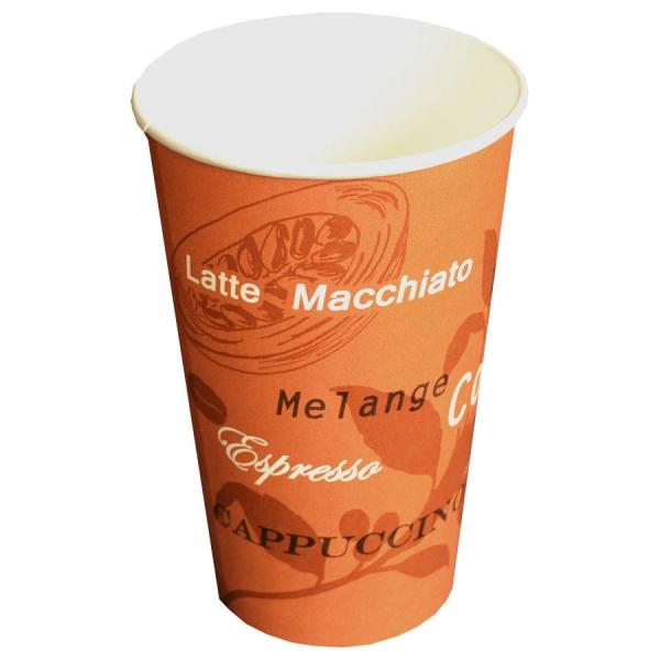 B2 Coffee To Go Becher ppk 400ml beschriftet Braun, Kaffeebecher