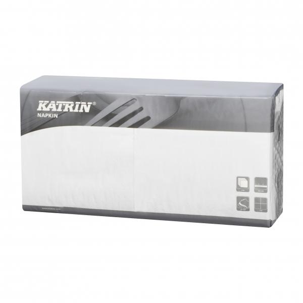 B1 Weiß Katrin Premium Servietten papier 400mm 2-lagig 1/4 Falz