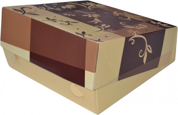 "Tortenkarton pp ""Brazil"" 1-teilig 340x340x110mm"