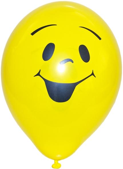 Luftballons Smile gelb 250mm