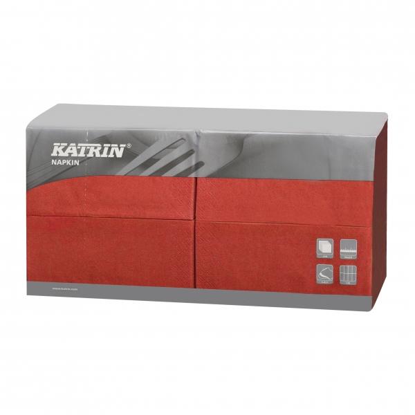 Rot Katrin Premium Servietten papier 330mm 3-lagig 1/8 Falz