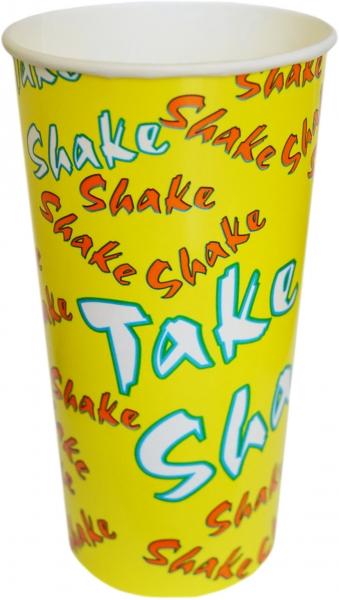 """A3 Becher ppk 500ml gelb mit Motiv """"Shake"""""""