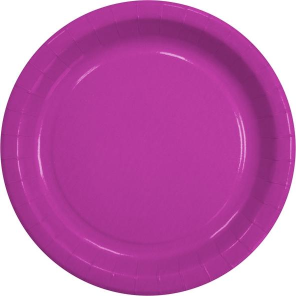 """B1 Pappteller rund flach ppk Motiv """"Pink"""" 230mm"""