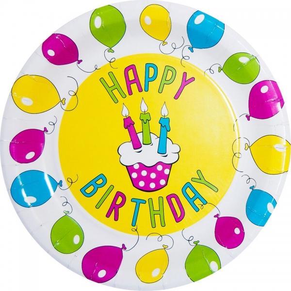 pappteller happy birthday motiv 2