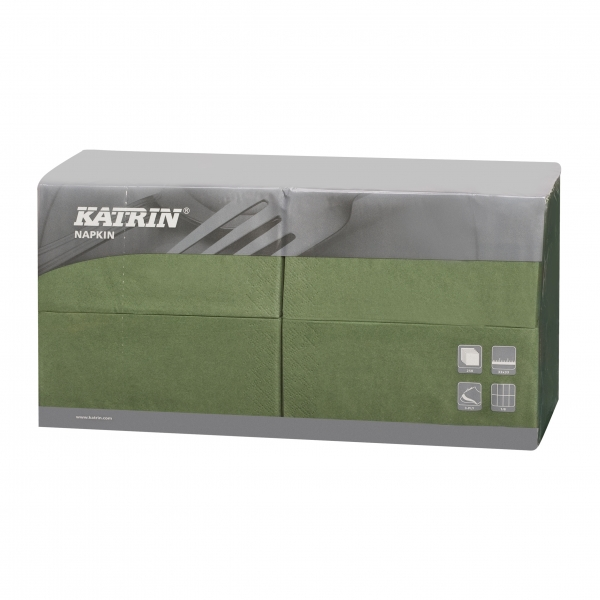 Grün Katrin Premium Servietten papier 330mm 3-lagig 1/8 Falz