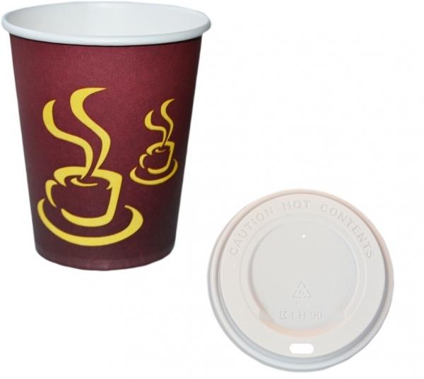 A1 Sparset Coffee To Go Becher 200ml + Coffee To Go Becher Deckel weiß 200ml