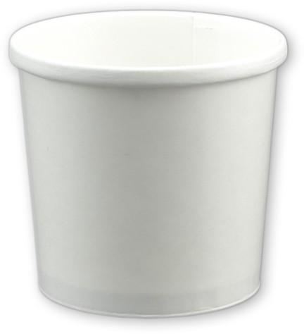 """Suppenbecher weiß aus Pappe 12 oz 354ml """"Soup to Go"""" ohne Deckel"""