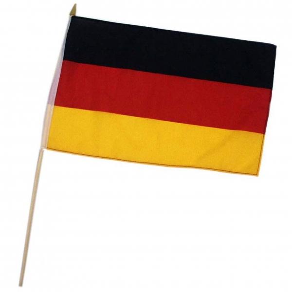 Flagge mit Holzstab Deutschland 30x40 cm