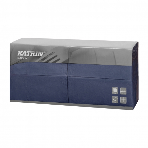Blau Katrin Premium Servietten papier 400mm 3-lagig 1/8 Falz