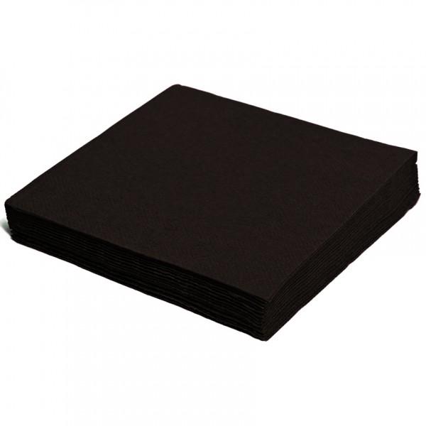 Servietten papier schwarz 330mm 2-lagig 1/4 Falz