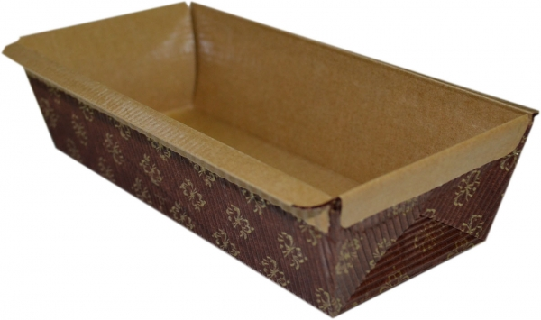 Einweg-Backform eckig 80x235x75mm papier Sandkuchen
