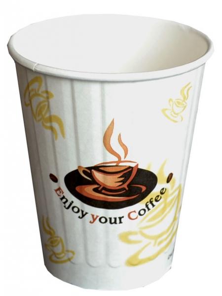 B2 Doppelwand 300ml Coffee To Go Becher ppk beschriftet Enjoy, Kaffeebecher