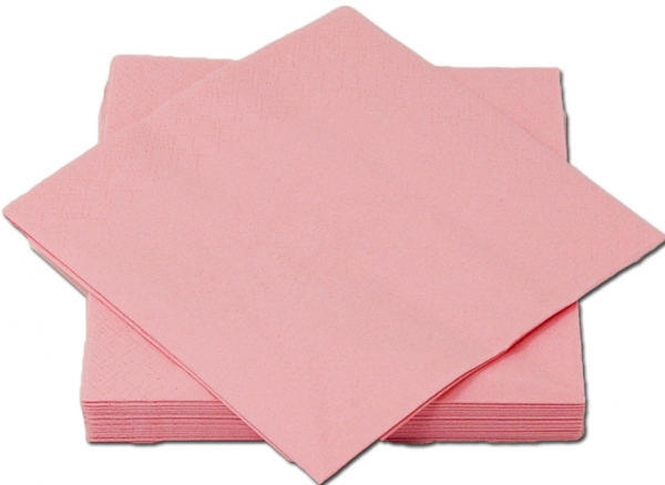 Rosa Premium Servietten papier 330mm 3-lagig 1/4 Falz