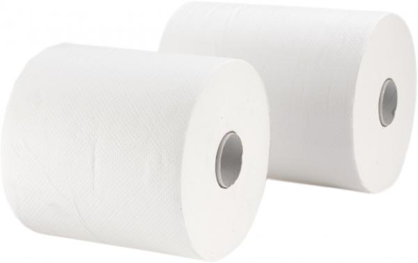 Handtuchrollen, 2-lagig, 21cm, 140m, hochweiß, Kern 4cm mit Spezialkern - nur für markenfreie Spend