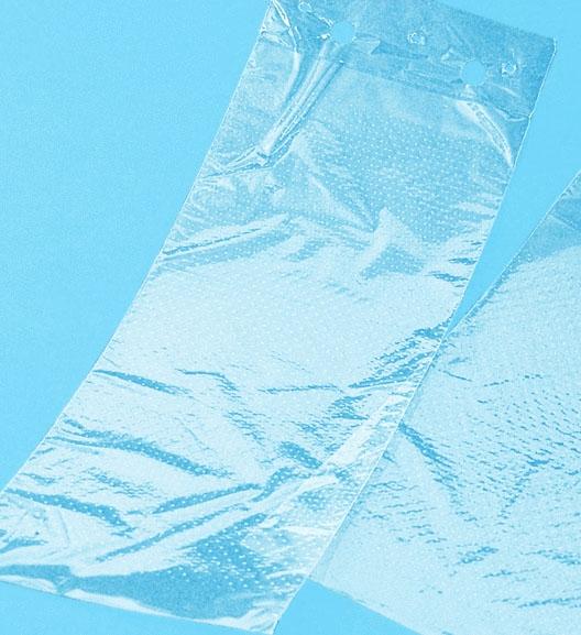 PP-Flachbeutel genadelt, geblockt, transparent 150x350x40mm 25my