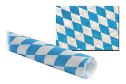 Tischdecke papier 1000mmx8m bayrisch blau mit feiner Damastprägung