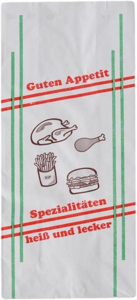 """Hähnchenbeutel PE mit Motiv """"Guten Appetit"""" 1/2 Grillhähnchen 3-lagig 105x60x230mm"""