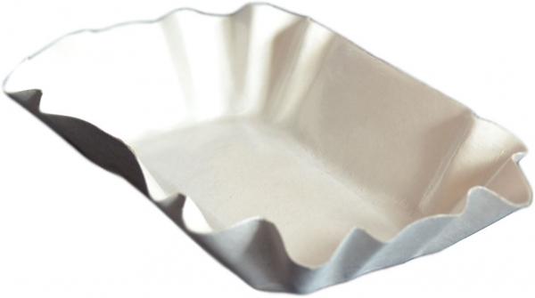 Pappschalen oval 90x90x30mm ppk weiß KU 39