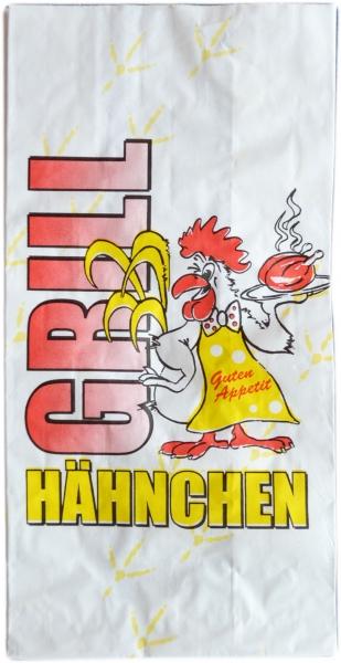 """Hähnchenbeutel PE mit Motiv """"Gockel"""" 1/1 Grillhähnchen 2-lagig 130x80x270mm"""