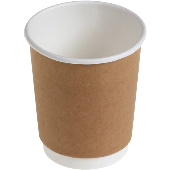 B1 Doppelwand 200ml Coffee To Go Becher ppk kompostierbar braun, 8oz