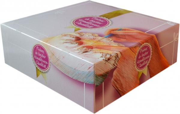 """Tortenkarton pp """"Konditoren-Qualität"""" 1-teilig 320x320x110mm"""