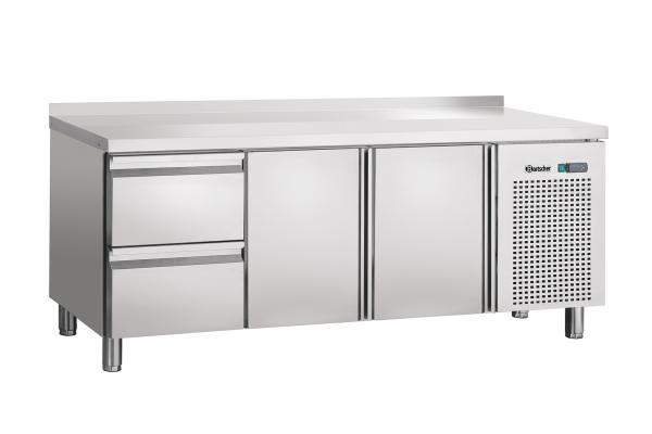 Kühltisch,Umluft,2T,2SL,Aufkantung