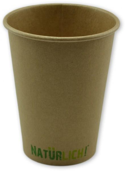 """Bio Espressobecher ,Coffee To Go Becher ppk 300ml, 10oz braun Kraft """"Natürlich"""", kompostierbar"""