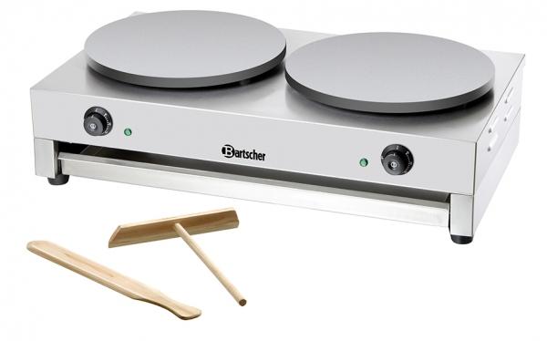 Bartscher Elektro Crépe Backgerät mit 2 Platten, 400mm