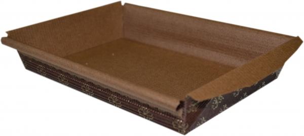 Einweg-Backform eckig 135x193x35mm papier