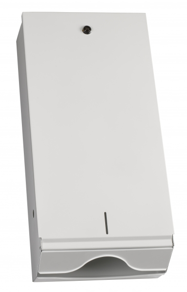Spender für Papierhandtücher 550x265x130mm, 750St., metall/weiß - 1
