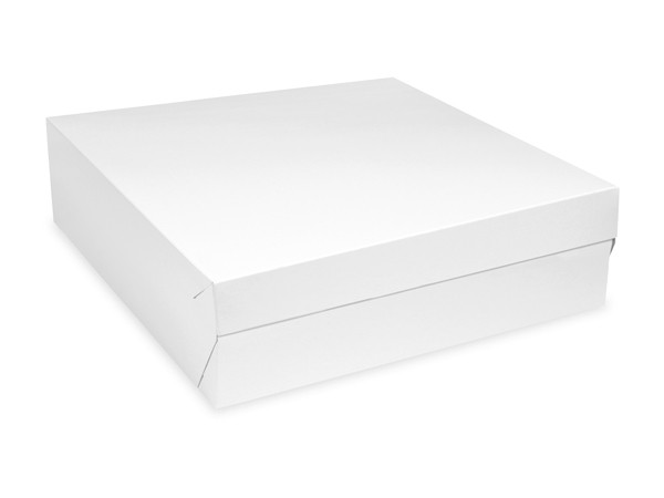Tortenkarton pp 1-teilig weiß, 280x280x100mm