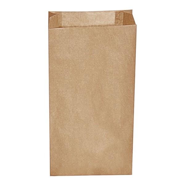 Papier Faltenbeutel braun 1 kg (12+5 x 24 cm)