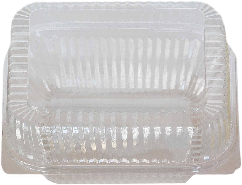 klarsichtbox eckig ops transparent 130x130x70mm mit deckel obst und salatboxen verpackungen. Black Bedroom Furniture Sets. Home Design Ideas