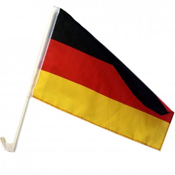 Autofahne mit Halterung Deutschland 30x40 cm