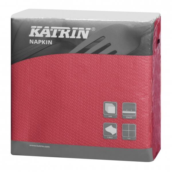Bordeaux Katrin Servietten papier 330mm 1-lagig 1/4 Falz