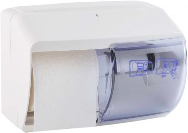 Spender für Toilettenpapiere 260x170x160mm, weiss, 2 Rollen - 1