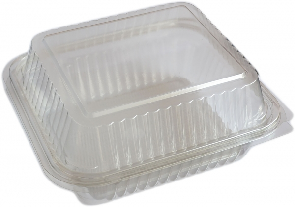 Salatbox eckig 2700ml pl transparent 220x190x90mm mit Deckel