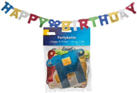 Partykette Happy Birthday 1,5m