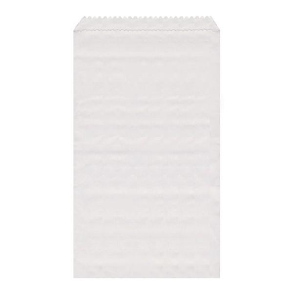Papier Flachbeutel weiß 11 x 17 cm