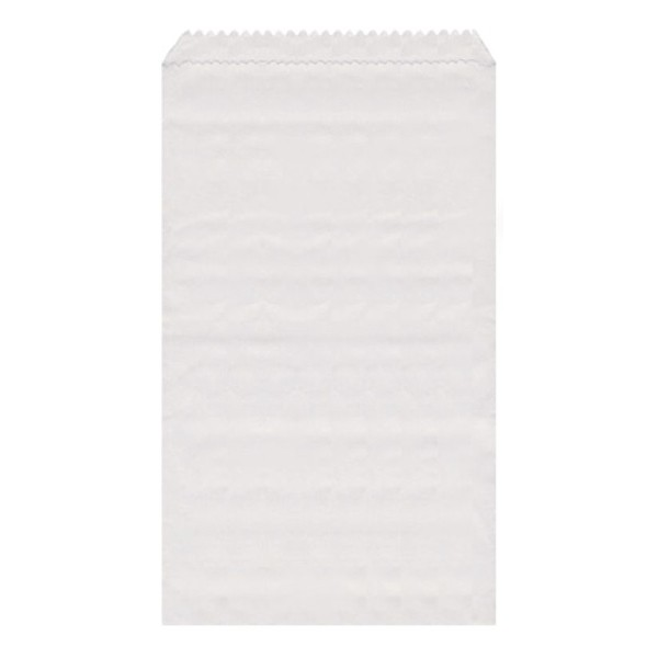 Papier Flachbeutel weiß 9 x 14 cm