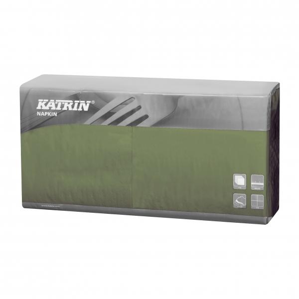 Grün Katrin Premium Servietten papier 400mm 3-lagig 1/4 Falz
