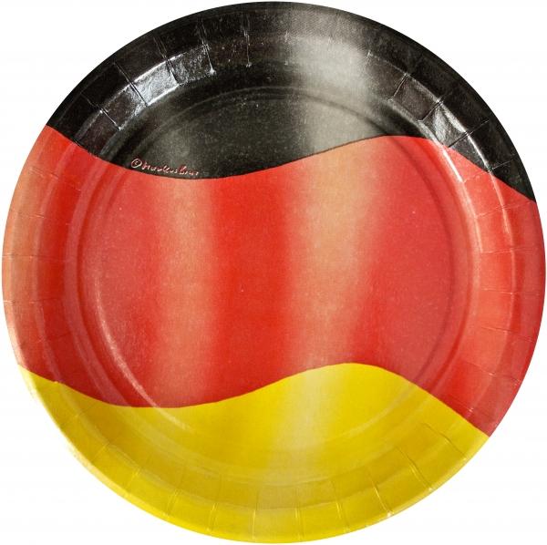 """B1 Pappteller rund flach ppk Motiv """"Deutschland"""" 230mm"""