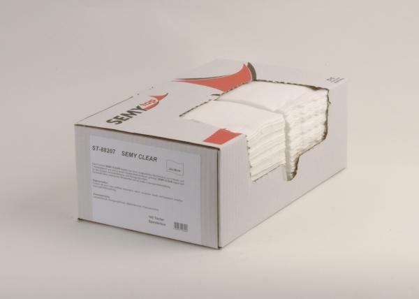 Airlaidtücher, Vließtücher / Rollen Semy Clear Putztuch, 29x38 cm, - Box:6x100 Tücher