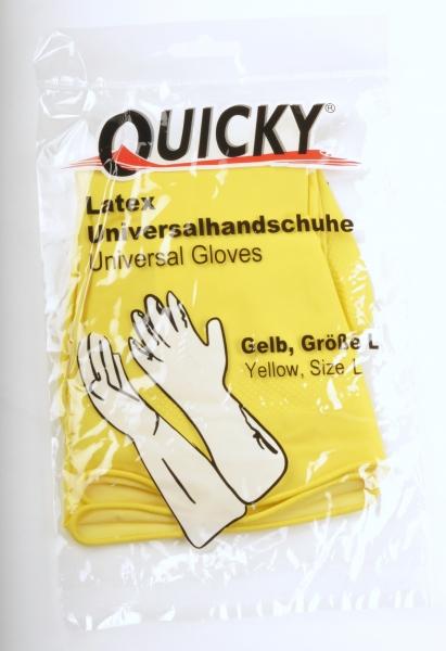 Handschuhe Haushalthandschuhe, gelb, Größe S, M, L oder XL - 12x12=144 Paar