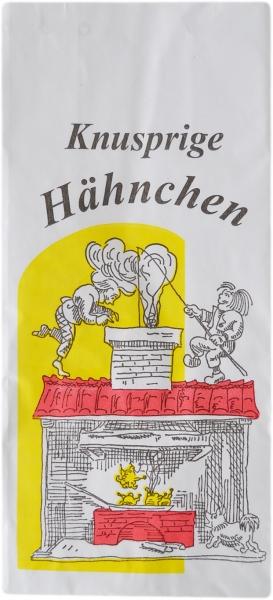 """Hähnchenbeutel PE mit Motiv """"Max und Moritz"""" 1/2 Grillhähnchen 3-lagig 105x60x230mm"""