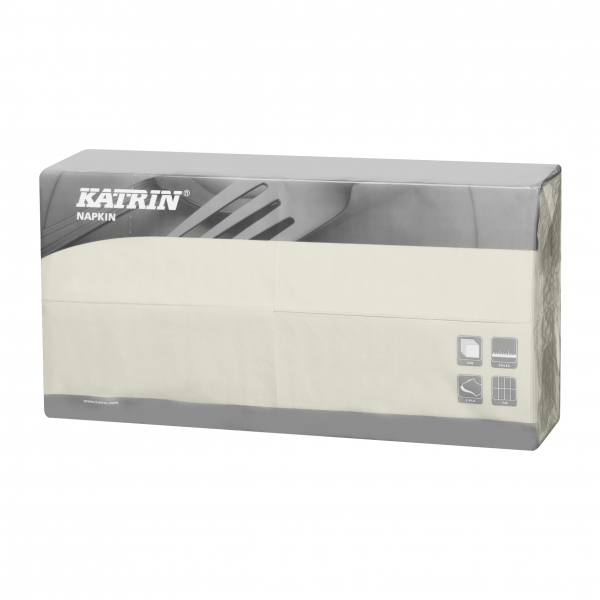Creme Katrin Premium Servietten papier 240mm 3-lagig 1/4 Falz